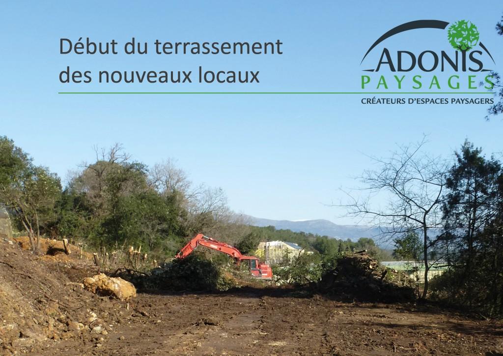 Mars 2016 : Terrassement des nouveaux locaux